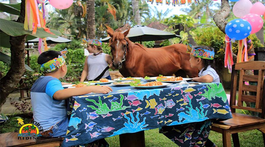 Enjoy Our Special Discount For Stable Birthday Party at Bali Horse Riding for Kids by True Bali Experience